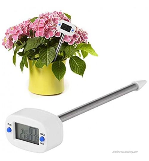 CjnJX-Vases Compteur de Sol Mini testeur d'humidité de la température du Sol électronique pour Le Sol des Plantes de Jardin avec sonde et écran LCD