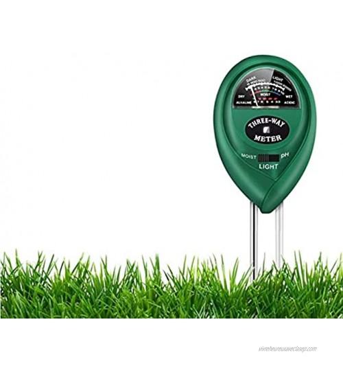 JZK Testeur de sol 3 en 1 pour le pH l'humidité et la lumière pas besoin de pile testeur de pH du sol testeur d'acidité du sol testeur d'humidité du sol testeur de lumière pour plantes