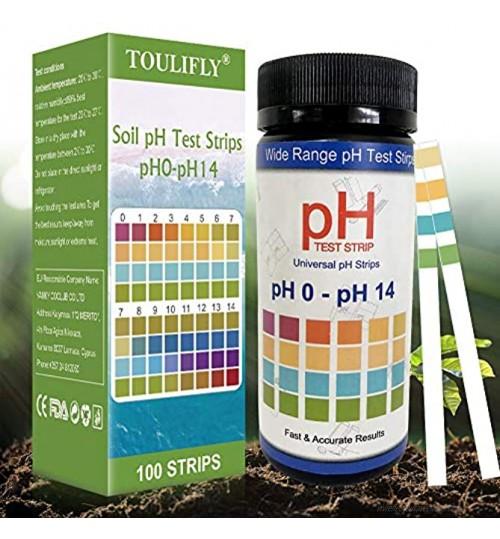 Testeur de Sol,Analyse Sol,Testeur pH Sol,pH Sol Testeur,Kit Analyse Sol,pH Soil Test Kit,Kit de Tests pH pour Analyse des Sols 0-14 pour des Fleurs Une Pelouse des Plantes,100 Bandes