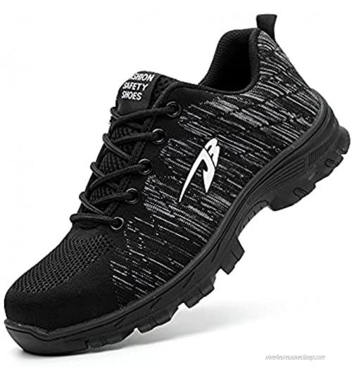 DRECAGE Chaussures de sécurité de Basket Knit en Embout Composite de Acier Legere Confortable aérée pour Le Travail Homme Femme