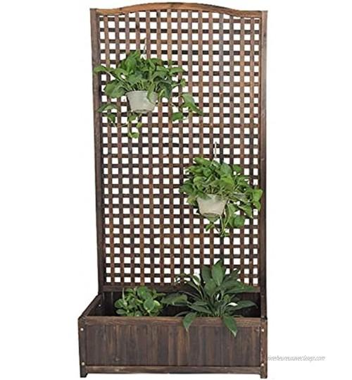 Extérieur Lit Surélevé de Jardin Jardinière en bois fleur sur pied lit de jardin surélevé avec treillis panneaux de treillis extérieurs étagère de jardinage verticale décorative pour l'escal