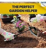 Binette creuse entièrement en acier trempé outil de jardinage à main outil de sarcloir manuel avec lame en acier inoxydable et poignée pour désherber et creuser dans le jardin