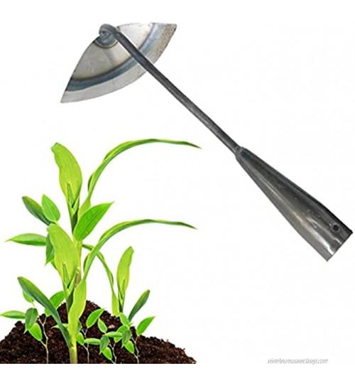 Grande binette de jardin portable en acier avec poignée longue pour désherber et désherber la terre râteau à main pour planter légumes jardinage de ferme 1 pièce