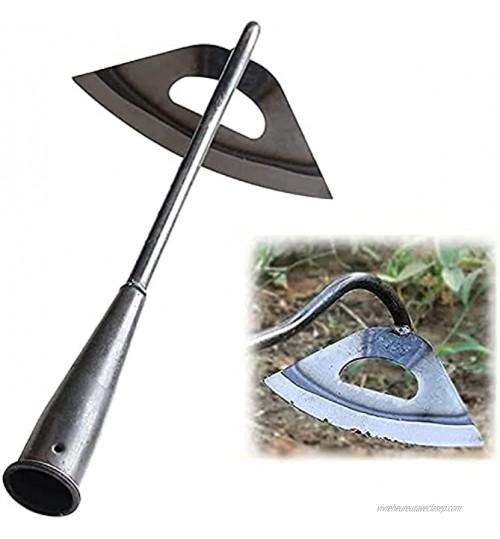 Nihexo Binette creuse entièrement en acier trempé râteau à main pour désherber planter légumes ferme outil de jardinage 1 pièce