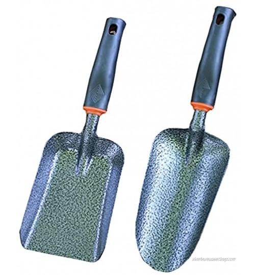 FAVOMOTO Lot de 2 truelles de jardinage épaississantes en fer pour planter désherber déplacer et lisser la terre | 30,5 x 8,6 x 2,5 cm.