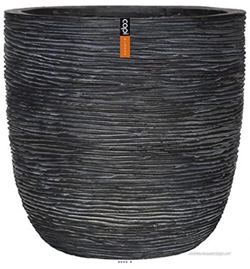 Artificielles.com Bac Fibres et Magnesium Hilo Ext. EggPot D 54 x H52 cm Noir dimhaut: H 52 cm Couleur: Noir