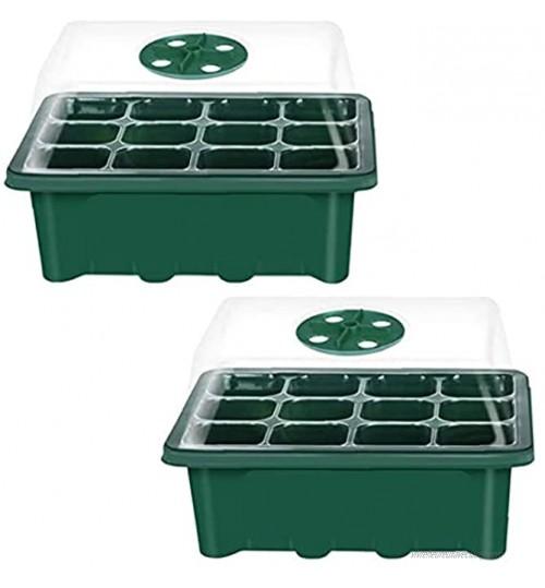 Nursery Box pour le bac de semences avec couvercle respirante réglable propagateur pour les plantes À partir Growing 12 trous 2PCS Planteur Sacs pour le jardin