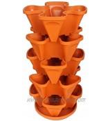 Planteur de plante verticale multicouche multicouche Verticale plante quatre pétales avec plateau pour fraises de légumes à la fraise avec jardin et balcons orange