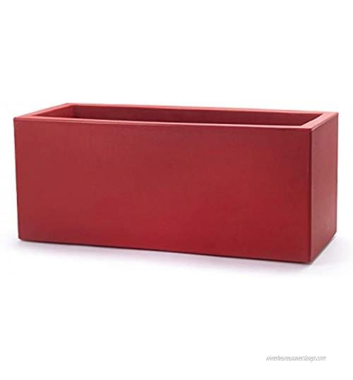 Teraplast Schio Caisse à Fleurs Rouge Cardinal 100 cm