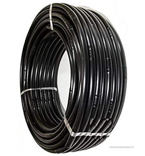 Pcriegos 02033-100 Tuyau d'arrosage 16 mm avec goutteurs intégrés à 33 cm Noir 100 m