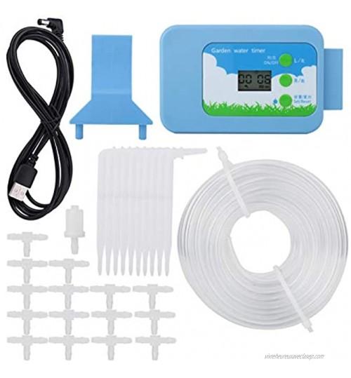 Paullice Minuterie d'irrigation Home Garden Kit de contrôleur d'irrigation LCD Minuterie d'eau Système d'arrosage Automatique