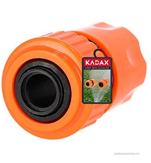 "KADAX Raccord de tuyau en plastique ABS Raccord rapide pour tuyau d'arrosage Raccord de tuyau d'arrosage Raccord de tuyau Raccord d'extrémité 3 4"""