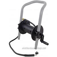 DeTec Enrouleur de tuyau pour nettoyeur haute pression 7 CV pour tuyau haute pression jusqu'à 20 m