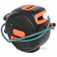 Wakects Enrouleur automatique de tuyau d'arrosage enrouleur de tuyau d'arrosage rétractable de 20 m avec rotation à 180 degrés pour douche d'animaux de compagnie 50 x 20 x 35 cm