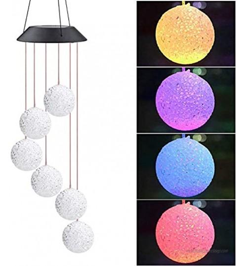 NATEE Lampe pour Jardin Patio Décoration Extérieure LED Lampe de Jardin Suspension Lampe Carillon de Vent Carillon éolien pour la Décoration de Jardin Fête.