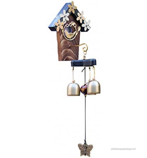 UCISACOLT Carillon a Vent Exterieur Rétro carillons éoliens Vent Cloche cuivre Vent Ornement Parfait décor Suspendu pour Cour Chemin Jardin Patio Ornement de Vent en cuivre a
