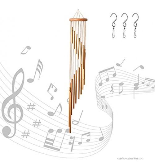 Xiangmall Carillon a Vent Exterieur 18 Tubes Carillon Métal a Vent Carillon éolien pour Église Home Garden Décorations à Suspendre Extérieur Or