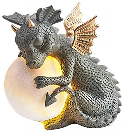 Fangteke Statue De Dragon Zen Yoga Dragon Ornement Animal De Résine Sculptures d'art De Dragon Bouddha Décoration De Jardin À La Maison pour Porche De Jardin Extérieure