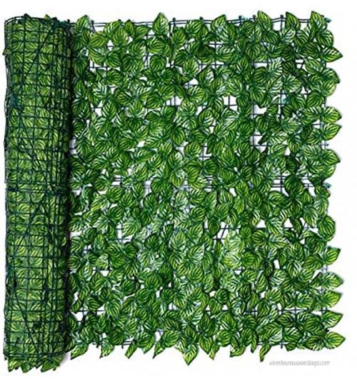 Brise-vue artificiel pour jardin Clôture de haies artificielles et faux lierre Décoration d'extérieur 0,5 x 1 m