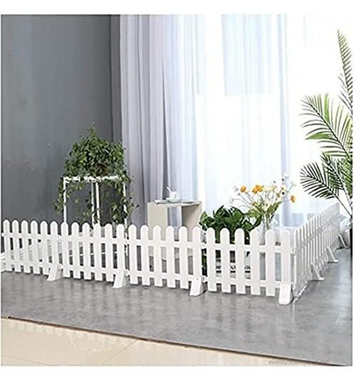 VULLDWS Jardin Clôtures décoratives de jardin clôture de jardin clôture de piquetage intérieur extérieur décoratif en plastique PVC Barrière d'animaux Blanc 5 Taille Couleur: 50x13cm Taille: 10 P