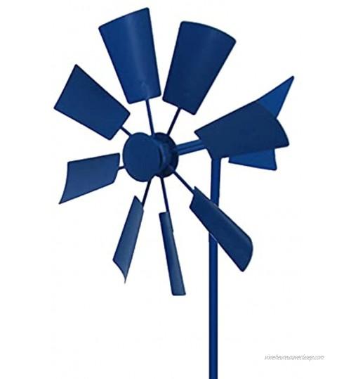 Yajun Moulin à Vent Rétro Spinner Piquet de Jardin Capteur de Vent Décor Extérieur Ornement en Métal Fait à la Main Windmill pour la Maison Pelouse Cour Terrasse
