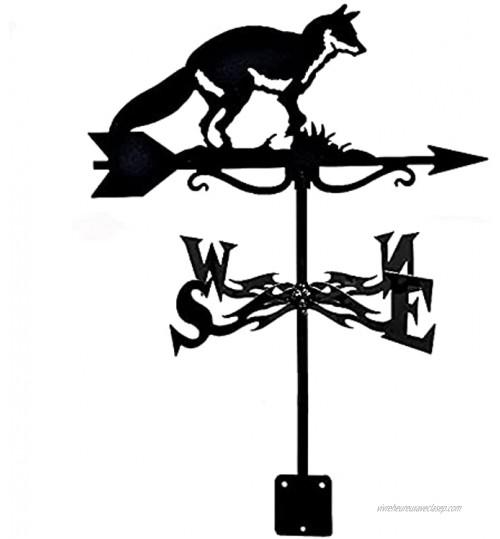 Décor de Maison girouette Toit girouette Jardin Montage de Jardin décoration de Cour girouette en Acier Inoxydable indicateur de Direction du Vent avec Ornement Animal Ferme extérieur Vif