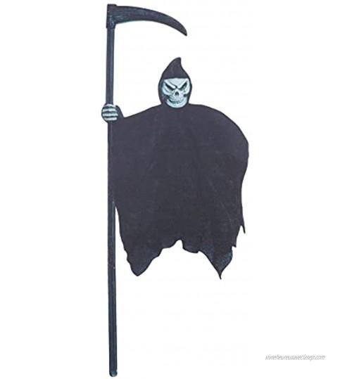 STOBOK Halloween Grim Reaper Cour Jeu Effrayant Squelette Enjeux Creepy Faucille Fantôme Cour Signe Maisons Hantées Prop pour L' extérieur Jardin Pelouse Terrain Halloween Décorations