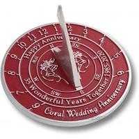 Antique Nauticals Cadran solaire 35ème corail 2020 pour anniversaire de mariage