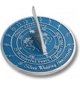 Antique Nauticals Cadran solaire pour 25e anniversaire de mariage Argent 2020