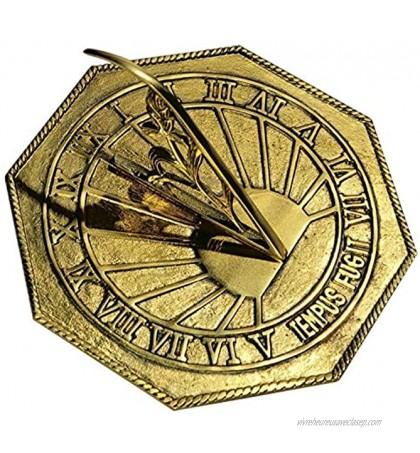 ANTIQUE NAUTICALS Classic Octagonal Sundial vendu laiton poli 25,4 cm de diamètre