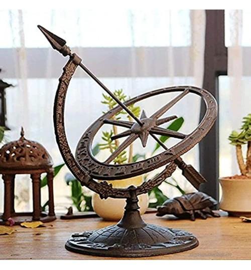 HJUYV-ERT Cadran Solaire de Jardin en Fonte Horloge Boussole armillaire Ornements de Chiffres Romains