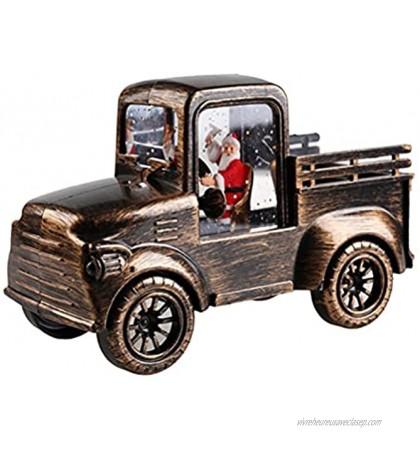 Jsdufs Camion de Camion Vintage de Noël modèle de Voiture ramassage en métal décoration de Bureau décoration de Noël Ornements de Noël Jouets de Voiture pour la décoration de Table décoration