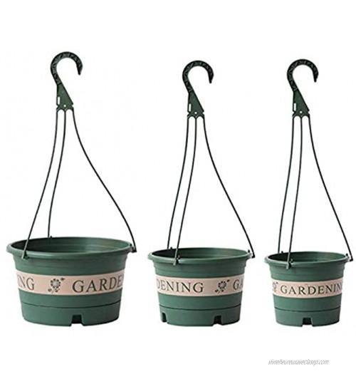 æ— Lot de 3 pots de fleurs en plastique à suspendre avec chaîne et base amovible pour décoration intérieure ou extérieure