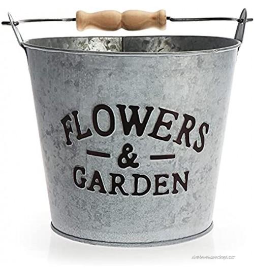 com-four® Pot de Fleurs en métal Pot de Plantes à Suspendre Pot Suspendu pour Balcon et terrasse Pot de Fleurs à Poser et à Suspendre Seau 1 pièce