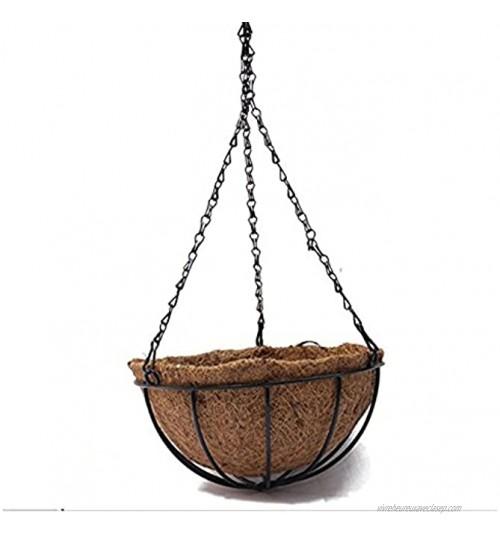 Pot de fleurs à suspendre des Producteurs ZZM Panier de fleurs de noix coco en fibre de coco Husk Pot de fleurs décoratifs Panier fer suspendre Pot de fleurs 1pcs 8inch