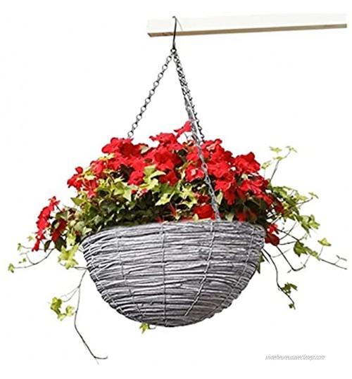 Pots de fleurs suspendus et paniers de jardin à suspendre durable avec corde effet plante pour intérieur ou extérieur balcon