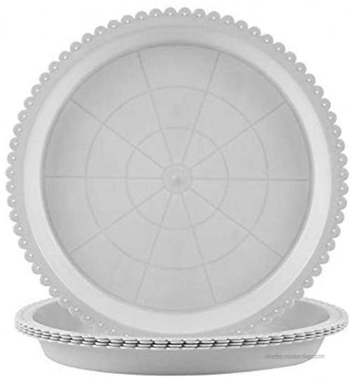 DIFIER Lot de 5 soucoupes rondes en plastique pour pots de fleurs Pour pots de fleurs 20 cm Blanc